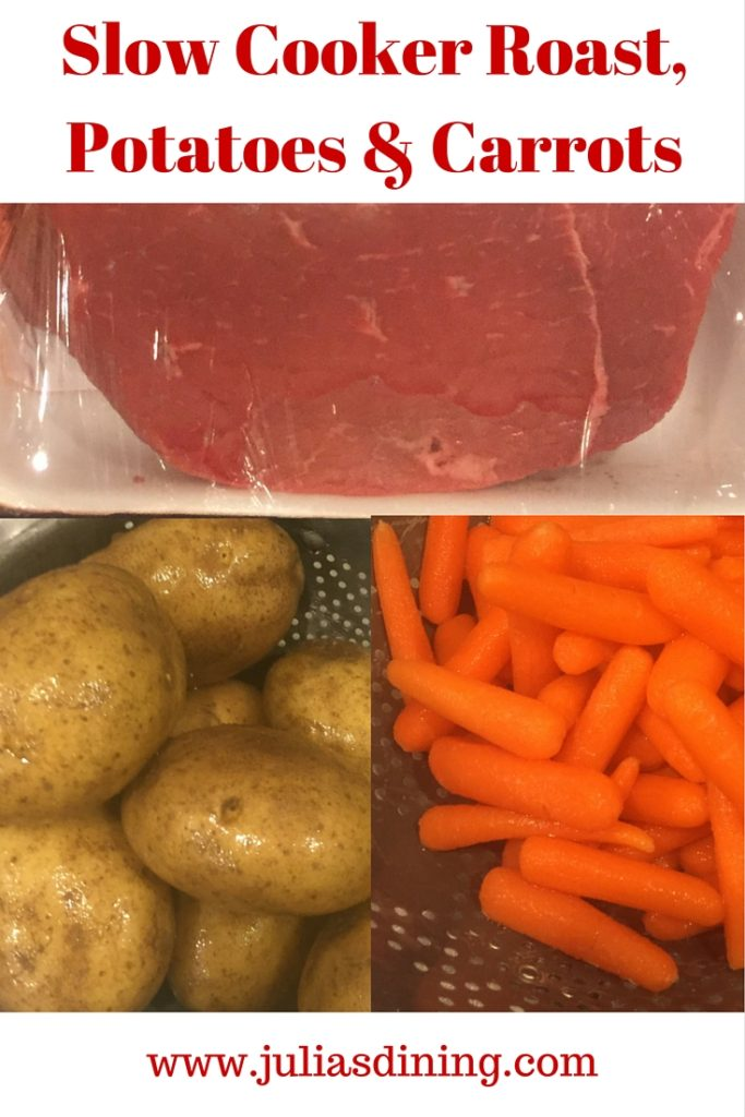 Slow Cooker Roast, Potatoes & Carrots